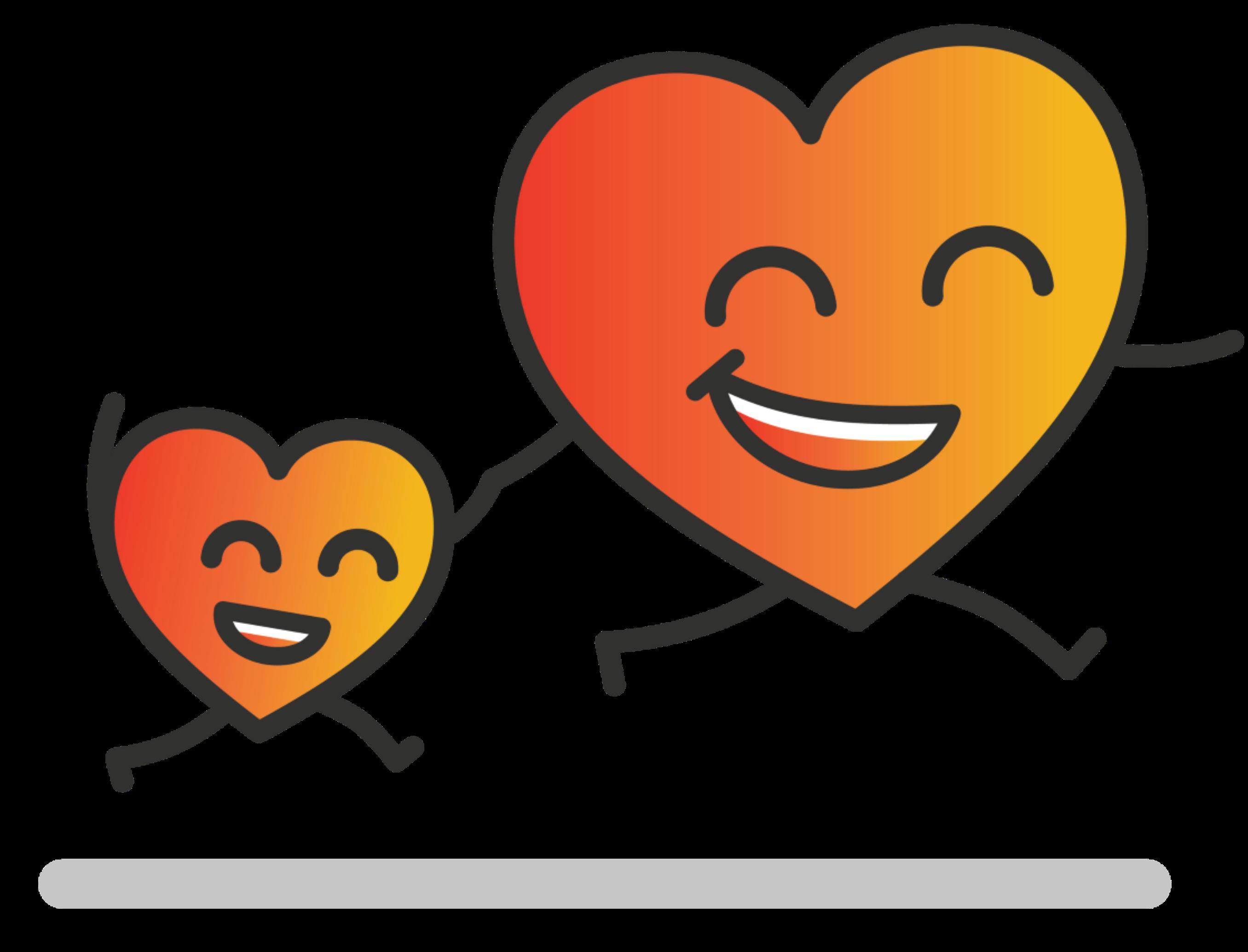 Heart Guy - JumpingHoldingHands