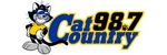 Cat Country 98.7 logo