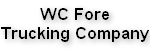 WC Fore Trucking Company Logo