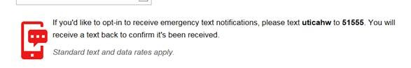Utica - Emergency Text Notification