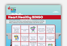 heart healthy bingo image